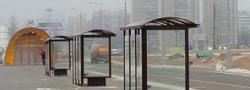 Автобусные остановки возле станции метро Тропарево