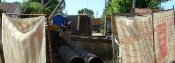 Во Внуковском ведутся работы по реконструкции инженерных сетей