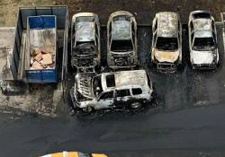 В Новой Москве на парковке сгорели пять автомобилей