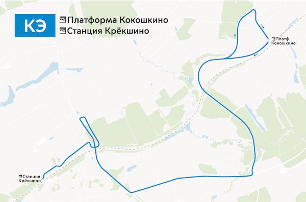 Организуется временный автобусный маршрут КЭ