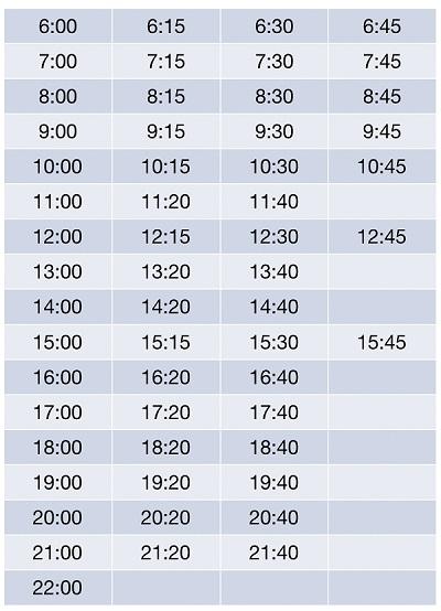 Расписание автобусов до Фуд Сити от станции метро Теплый Стан