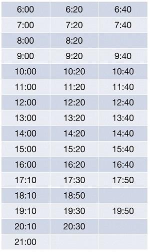 Расписание автобусов до Фуд Сити от станции метро Тропарево